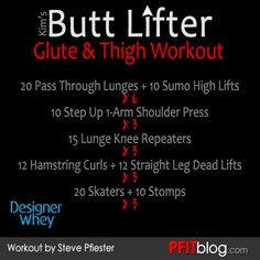 Bikini Butt Lifter Workout - click on the pic to get more info & video instruction. :) #pfitblog #dobcx #designerwhey