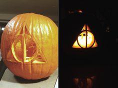 A Deathly Hallows Pumpkin | mia katherine / a texas raised kansan ...