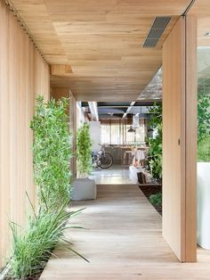 Commercial Space Turned into a Loft in Terrassa (Barcelona) by Egue y Seta – casalibrary Industrial House, Modern Industrial, Wood House Design, Modern Wooden House, Casa Patio, Modern Home Interior Design, Minimal Home, House In The Woods, Beautiful Homes