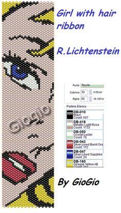 Girl with hair ribbon... lichtenstein chart