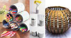 Resultado de imagen para decoracion con reciclaje de latas