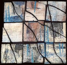 Grids 1 by Bobby Britnell 2001 #squares #fiber_art