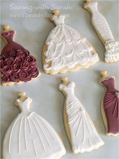 Bridal Gown Cookies Wedding Cookies Bridal Shower Bridesmaids