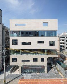Arch Building, Multi Story Building, Concrete Architecture, Architecture Design, Facade, Exterior, House Design, Mansions, House Styles