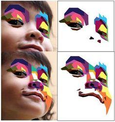 How to Create a Geometric, WPAP Vector Portrait in Adobe Illustrator   Vectortuts+ by kari