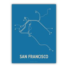 Lineposters is a beautifully minimal poster series of city transit systems from around the world. The Lineposters series is by Cayla Ferari and John Breznicky.