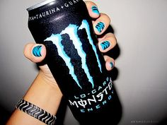 Shit I Love:: Monster Energy Drinks Zebra Print Nails Quote Just Girly Things, Little Things, Random Things, Drink Tumblr, Vape, Monster Nails, Love Monster, Reasons To Smile, Fabulous Nails