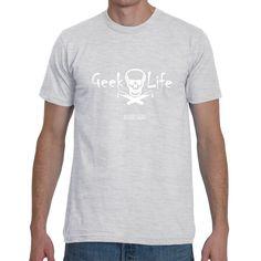 Geek Life (Skull & Test Tubes) T-Shirt