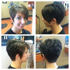 At the salon, all angles! #shorthair