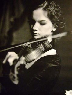 Hilary Hahn I'm pretty sure it's impossible for her to mess up