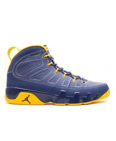 29973c146294 Air Jordan 9 Retro Calvin Bailey Deep Royal Unvrsty Gold White 302370 445