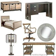 Rustic Industrial Teen Boy Bedroom Ideas | #decoratingideas #industrial...
