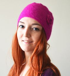 hand knit soft hat slouchy hat winter by LOVELYCHICKNITTING, $30.00
