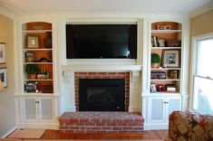 TV Over Fireplace Ideas | Custom Over Mantel Tv Cabinetry by Sjk Woodcraft & Design | CustomMade ...