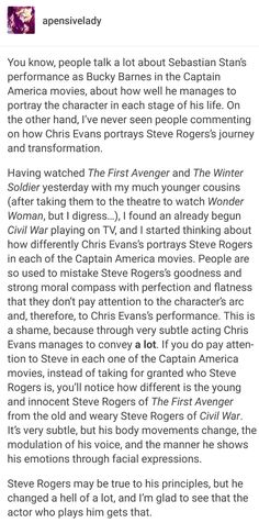 Steve Rogers is not great because he is Captain America. Captain America is great because he is Steve Rogers.