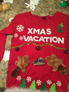 Ugly Christmas Sweater Cousin Eddie Shitters Full National