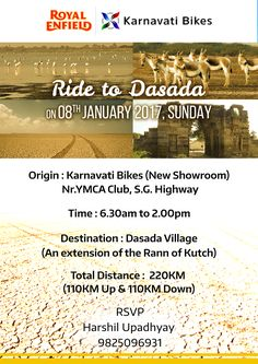 Join us for a first ever #Ride this Sunday from Karnavati Bikes's newly opened showroom near YMCA Club, S.G. Highway, #Ahmedabad!