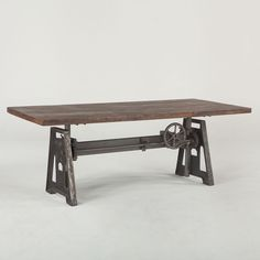 Industrial loft dining table - Recycled wood and iron have been fused together in a contemporary design with a rustic twist. The Industrial Loft Dining Table is
