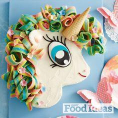 Sally the Rainbow Unicorn Cake in Super Food Ideas Magazine Oct edition.