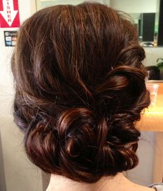 Wedding updo, wedding hair, updo,textured updo, chignon
