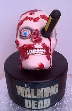 The Walking Dead cake - this one is for Tanner.......LOL