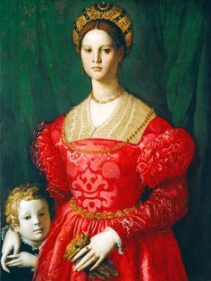 Bronzino - A Young Woman and Her Little Boy