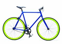 Retrospec Beta Series Single Speed with Flip Flop Hub (49 cm / Small GlobeTrotter (Blue Frame  Lime Green Wheels))