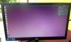 Aquí vemos el escritorio de el Ubuntu