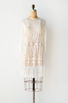 vintage inspired sheer boho lace dress | Vienna Lace Dress