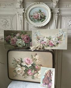 Bedroom shabby chic pink cabbage roses 34 Ideas for 2019 Shabby Chic Pink, Shabby Chic Bedrooms, Shabby Chic Cottage, Vintage Shabby Chic, Shabby Chic Homes, Shabby Chic Style, Shabby Home, Diy Décoration, Decoration