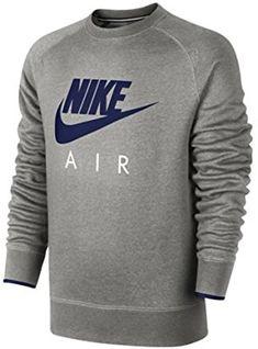 Nike AW77 FLC CREW-AIR HERITAG - Sudadera para hombre dff8b7fc1a3