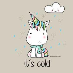 Unicorn kawaii cold