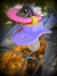 Happy Fence Friday: The Lost Pacifier by carliewired, via Flickr