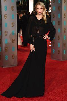 lily-donaldson Baftas red carpet 2016