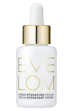 EVE LOM 'Intense Hydration' Serum |An intensive moisture-boosting treatment for long-lasting hydration, protection and plumping. Regular use will leave skin looking visibly smoother, younger and hydrated. The lightweight formula is easily absorbed and helps replenish and maintain levels of hyaluronic acid in the skin to rehydrate parched and stressed skin and can increase hydration levels by 20% in just two hours.