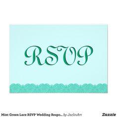#Mint #Green #Lace #RSVP #Wedding #Response  #Invitation http://www.zazzle.com/mint_green_lace_rsvp_wedding_response_v015_invitation-161101583169743248