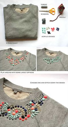 diy clothes DIY Home Sweet Home: DIY Clothes - Cozy Outerwear (Coats, Jackets, Sweaters amp; Sweatshirt Refashion, Diy Shirt, Ropa Upcycling, Old Sweater, Sweaters, Easy Knit Blanket, Diy Kleidung, Diy Vetement, Diy Wardrobe