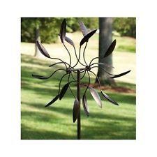 Windmill Garden Stake Kinetic Wind Powered Spinner Yard Metal Art Home Decor New