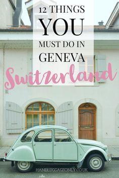 Travel dreams: 12 Fantastic Things To Do In Geneva, Switzerland - Nice! Lake Geneva Switzerland, Switzerland Summer, Switzerland Itinerary, Switzerland Tour, Switzerland Cities, Travel Advice, Travel Guides, Travel Tips, Zermatt