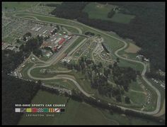 Aerial view of the Mid-Ohio Sports Car Course located in Lexington Ohio. This race track hosts several annual events ranging from the IndyCar Series and CART, the ALMS, the SCAA, the Super Cycle to Vintage Grand Prix cars and AMA motorcycles.