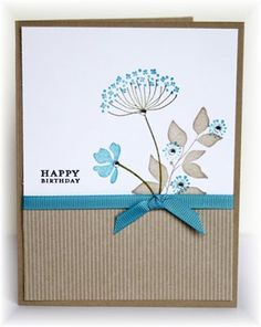 handmade card ... clean and simple design ... luv the look of these Summer Silhouette  flowers from Stampin' Up!