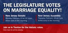 NJ Legislature votes on Marriage Equality, Passes.  :)