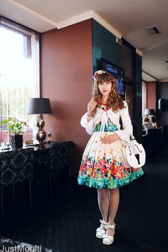 daily_lolita: 2011 - Pretty combination with offbrand dress.