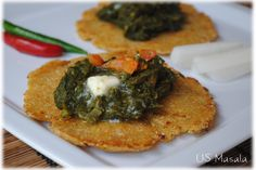 US Masala: Makki di roti & sarson da saag (cornflour flatbreads and curried greens can use mustard greens...)