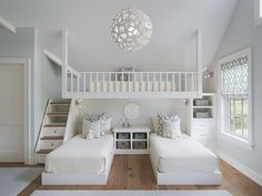 Inspiração para Quarto Ciranças Casa Campo/Praia | Mayhew Lane Interior by Sophie Metz Design via @homeadore