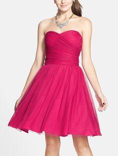 Twirl-worthy pink homecoming dress.