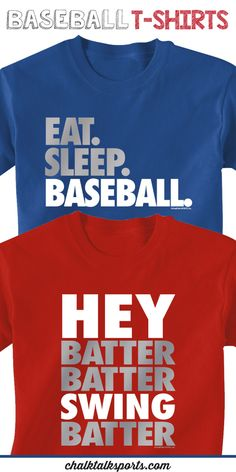 Give these baseball t-shirts as a gift for your favorite baseball player to wear all summer long!  So many different colors and designs to choose from at ChalkTalkSPORTS.com!
