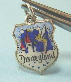 Vintage Sterling Silver Enamel Tinkerbell Disneyland Charm Made in Germany | eBay