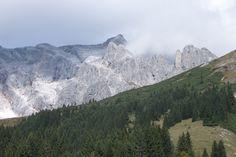 Blick auf einen der schönsten #Klettersteige in #Österreich in den Berchtesgadener #Alpen bei Salzburg - Hochkönig Königsjodler