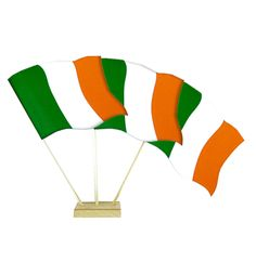 """Irish Table Flags 6"""" on 10"""" Pole. Brazilian Small Flag Interior Bunting - 2.4m. Olympic Games Party, Mini Olympics, Sports Day, Rio2016"""